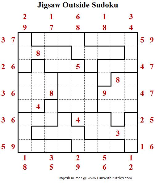 Jigsaw Outside Sudoku Puzzle (Daily Sudoku League #200)
