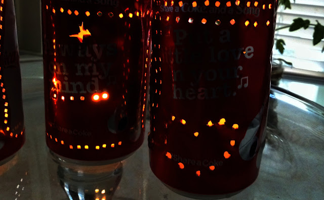 Coca-Cola Mini Can Lanterns close-up