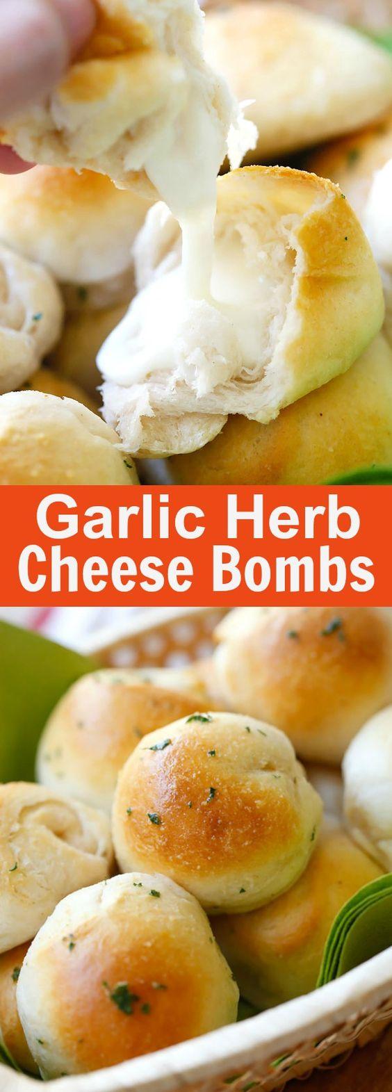 Garlic Herb Cheese Bombs