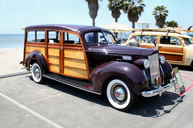 Image: 1938 Packard 1600 Estate Wagon - fvr, Woodie Club, Doheny, CA, Apr 22, 2007, by Rex Gray on Flickr
