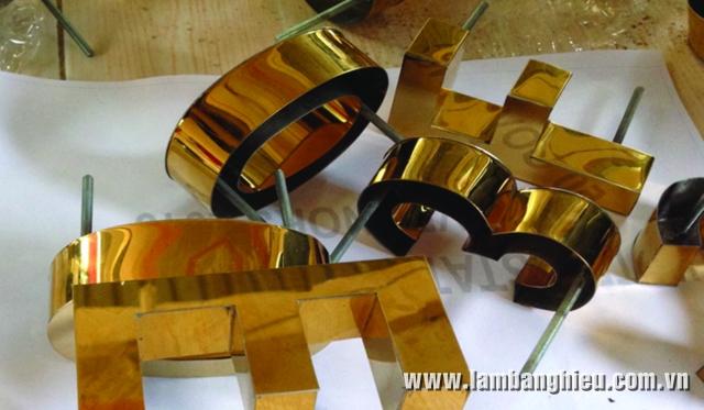 chữ inox vàng còn gọi là chữ inox đồng