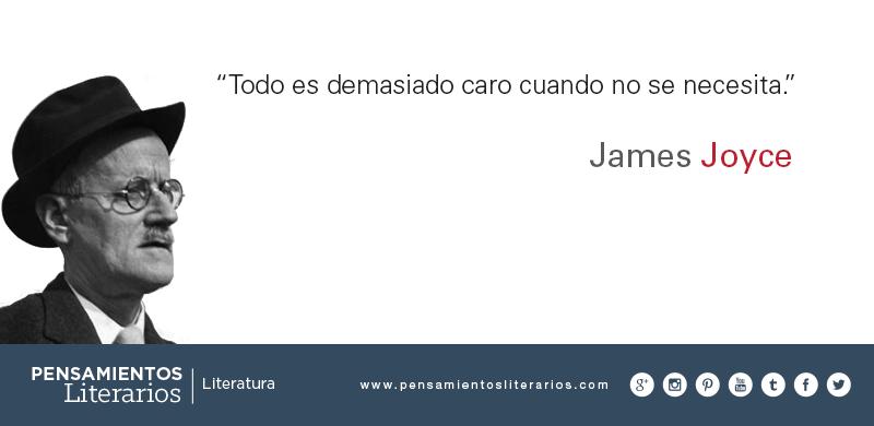 Pensamientos Literarios James Joyce Sobre El Valor De Las