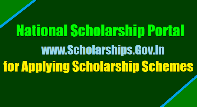 national scholarship portal scholarships.gov.in to apply for scholarship schemes,fresh renewal online scholarship application at national scholarship portal