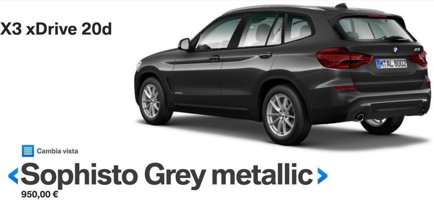 colori nuova bmw x3 2017 2018 Sophisto Grey metallic