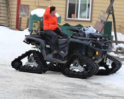 Woman on a nice snow mobile at Chena Hot Springs Resort