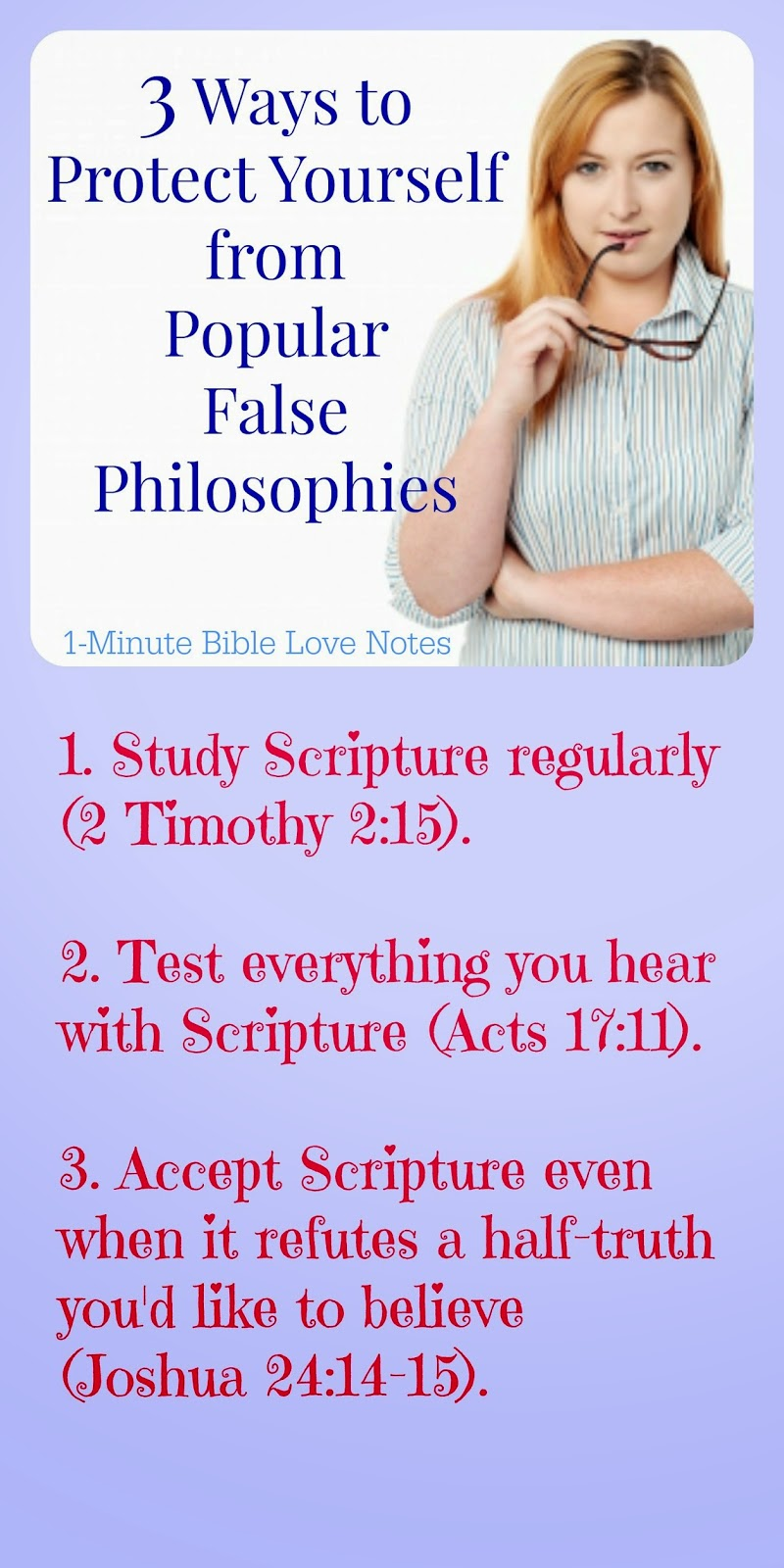 2 Timothy 2:15, Acts 17:11, false philosophies