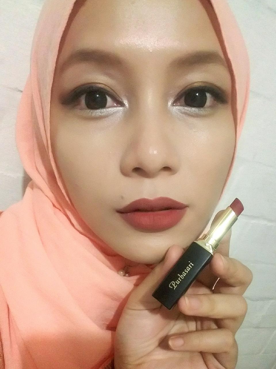 Lipstik Purbasari No 86 Collor Matte Bancidandan Review Lipstick Color