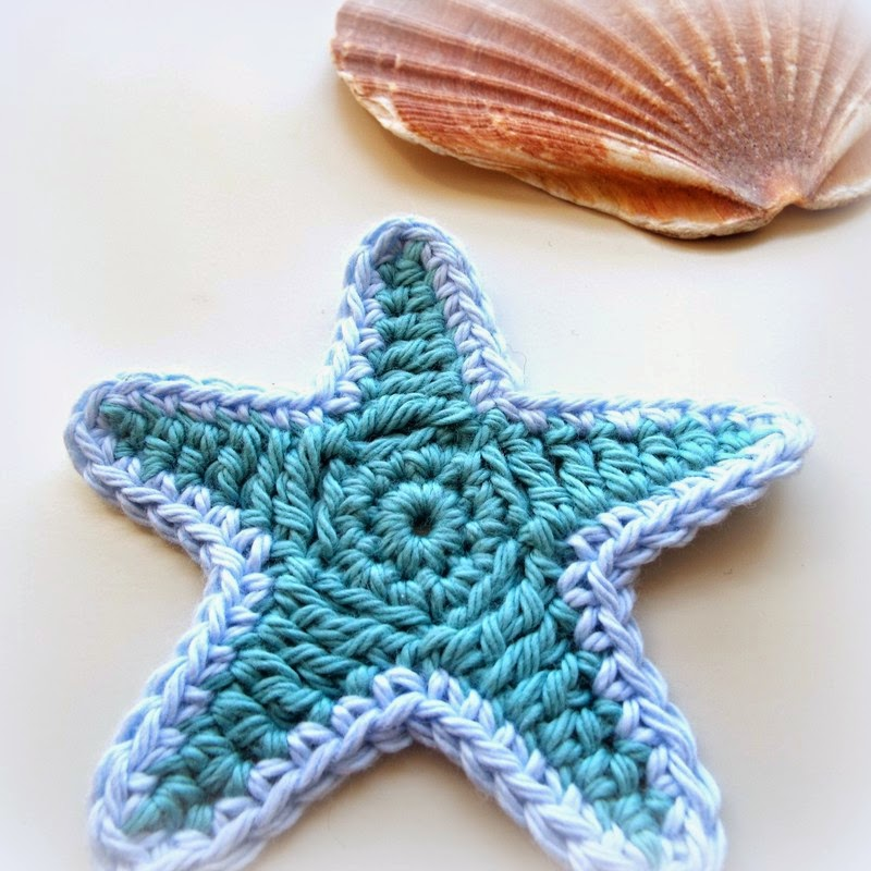 free crochet patterns, starfish, stars, motifs, how to crochet,
