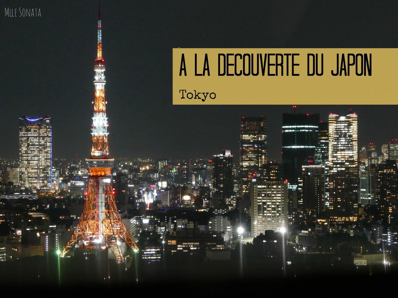 Tokyo Tower vue de l'observatoire à Roppongi Hills.