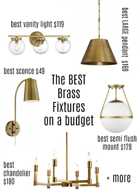 5 affordable brass light fixtures