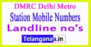 DMRC Delhi Metro Station Mobile Numbers Line 5