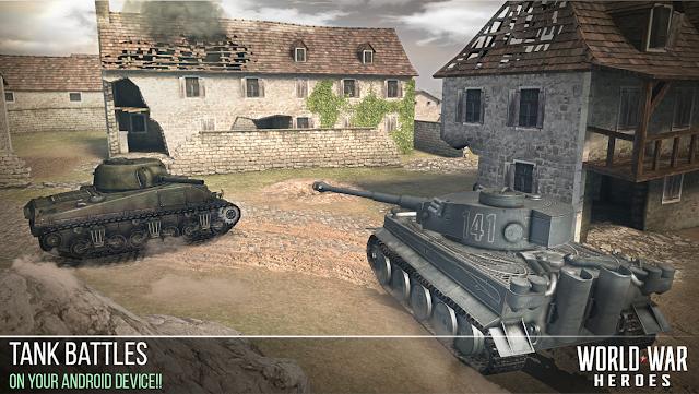 Tampilan game World War Heroes Android