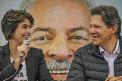 Lula-Haddad-Manuela coligação O Povo feliz de Novo