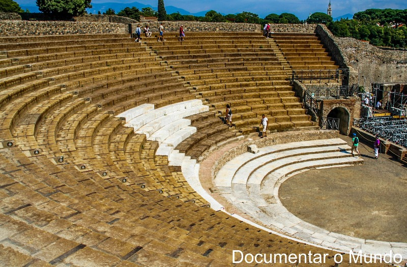 Teatro Grande, Pompeia, Itália