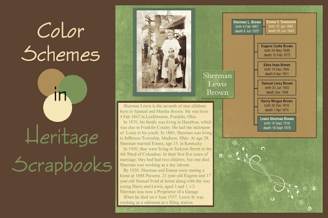 Selecting a Heritage Scrapbook Color Scheme