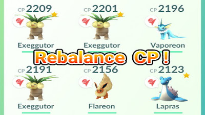 Daftar Lengkap Rebalance Combat Power(CP) Pokemon di Pokemon Go