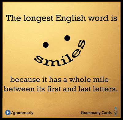 All That Spam: The Longest English Word is Smiles