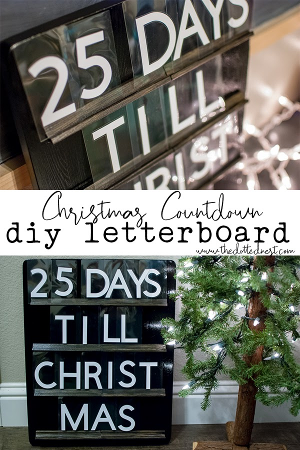 DIY Letterboard Christmas Countdown Wood Sign