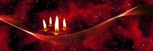 foto belle di candele per natale
