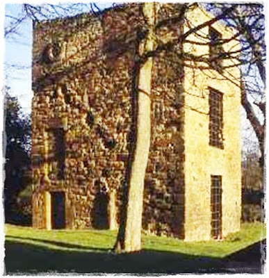 lovely stone built pele tower in northumberland