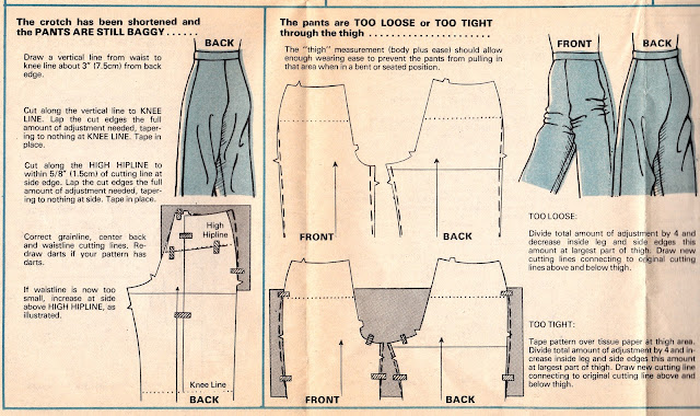 Altering pants that are baggy, too loose, or too tight