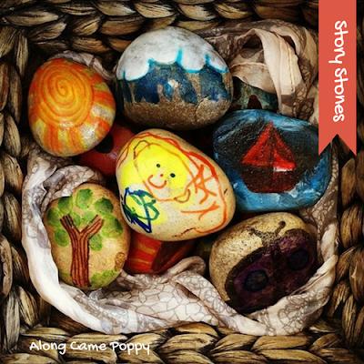 "<img src=""story stones.png"" alt=""diy painted storytelling stones in basket"">"