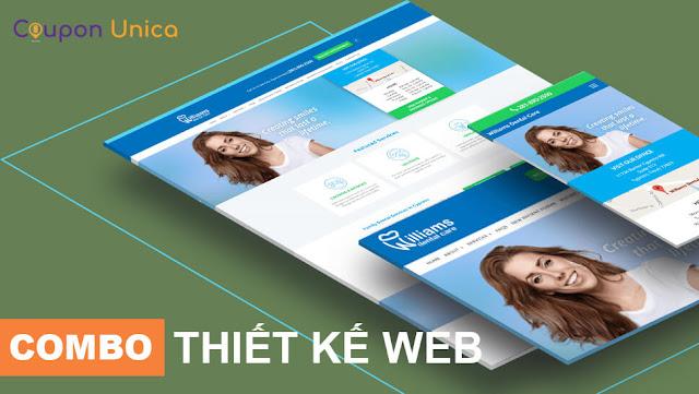 Combo thiết kế website chuẩn seo