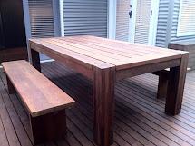 Bombora Custom Design Merbua Outdoor Table And Bench Seats