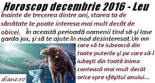 Horoscop Leu decembrie 2016