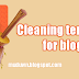 Cleaning template for blogs
