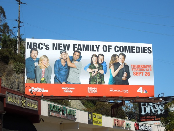 NBC family of comedies billboard Fall 2013