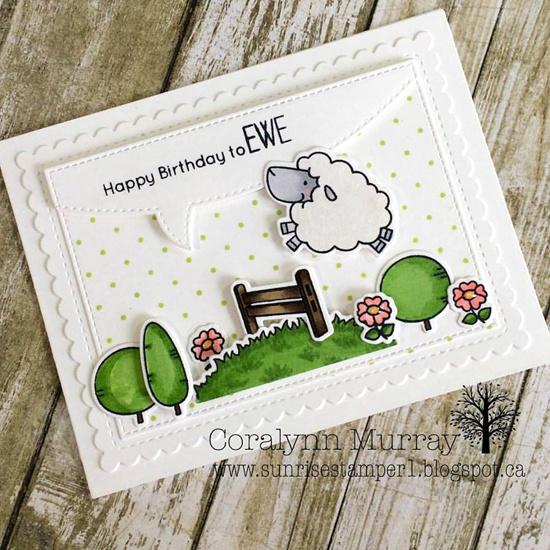 Birdie Brown Ewe Are the Best stamp set and Die-namics - Coralynn Murray #mftstamps