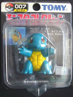 Squirtle  figure Tomy Monster Collection black package series