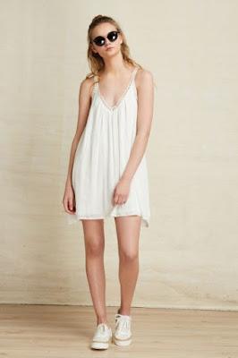 vestido blanco de tirantas juvenil