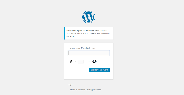 Cara Mudah Reset Password Login Dashboard Administrator Wordpress via E-Mail