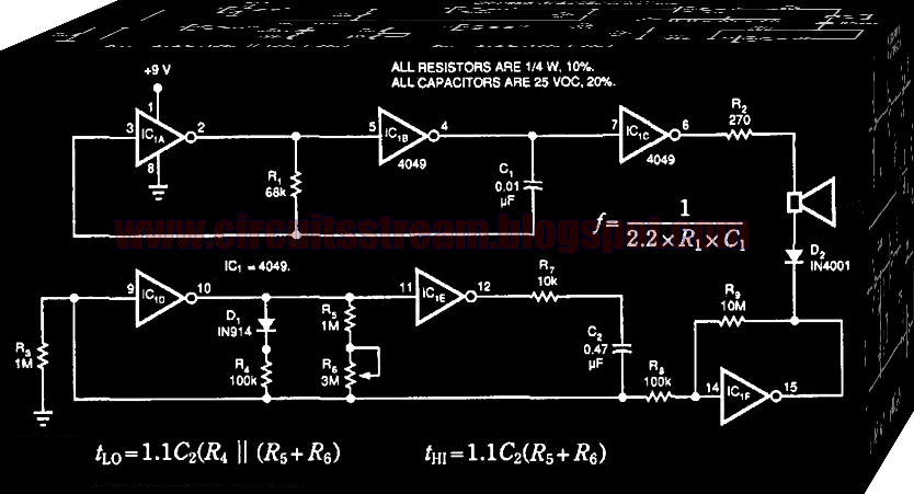 One IC Based One Chip Chime Circuit Diagram