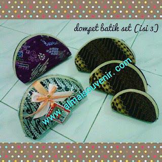 souvenir jogja dompet batik kiso set 3