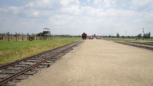 Huge area of Auschwitz. Size of dozens of soccer fields.