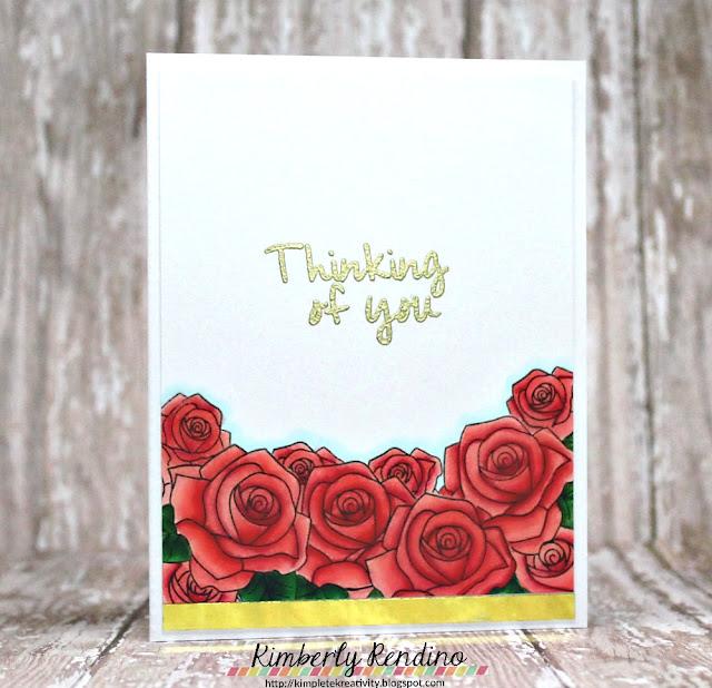 roses | handmade card | gold | craftin desert divas | kimpletekreativity.blogspot.com