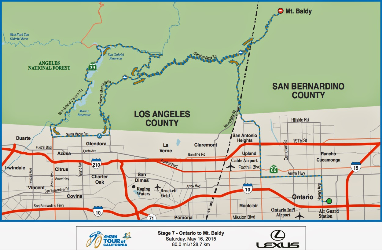 Tour of California Stage 7 Map 2015