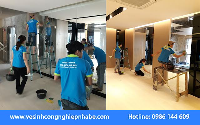 Dịch vụ vệ sinh sau xây dựng tại Nhà Bè là giải pháp tuyệt vời cho khách hàng