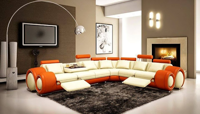 Modern Small Living Room Design With Wonderful Leather Sofas