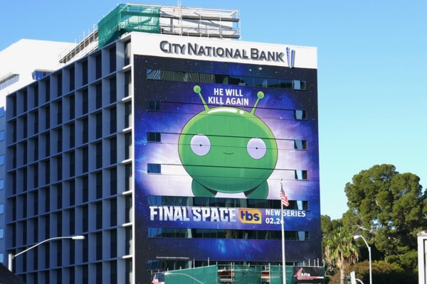 Giant Final Space series premiere billboard