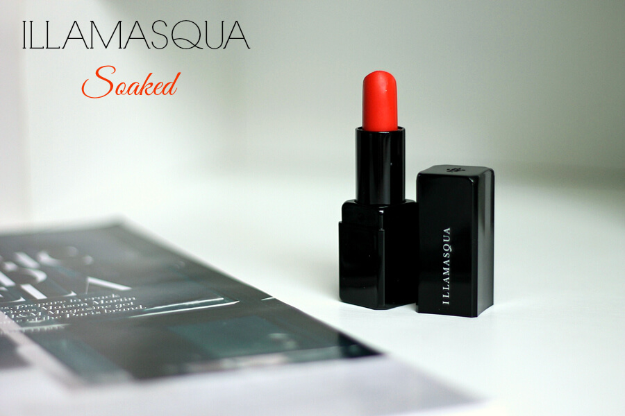 illamasqua lipstick soaked review recenzija