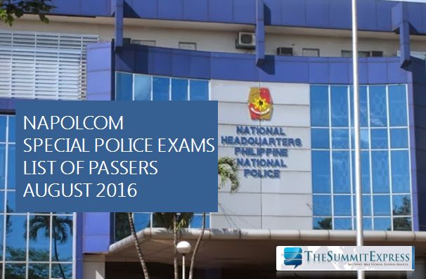 August 2016 NAPOLCOM exam results out