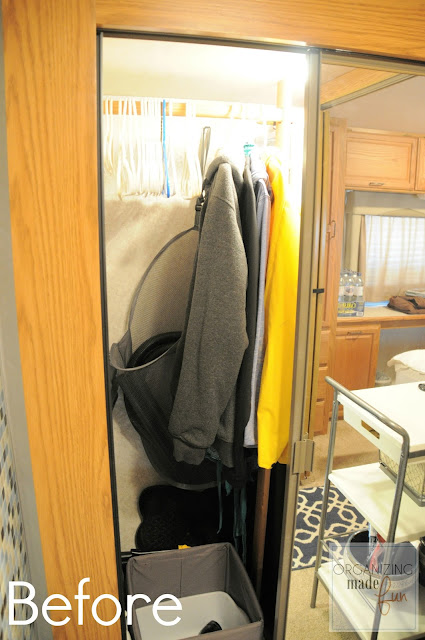BEFORE: RV hall closet