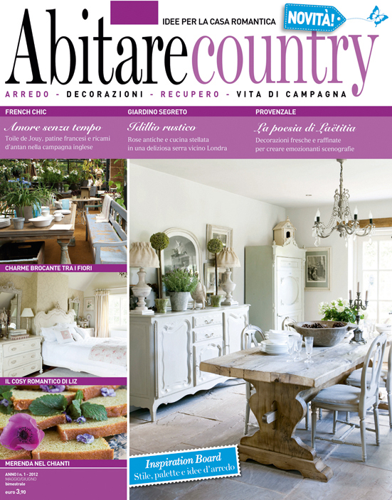Una nuova rivista abitare country home shabby home for Riviste di interni