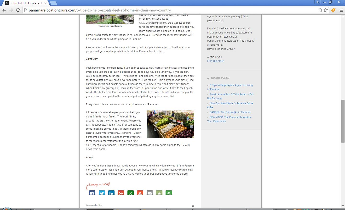 My re-worked article on the website of the infringing company - 3rd screen