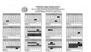 Kaldik Madrasah Terbaru Tahun Pelajaran 2017/2018