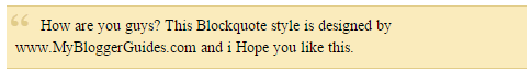 Blogger Blockquote Style 23